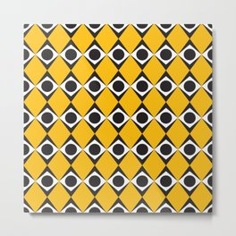 Geometric Pattern #183 (orange diamonds) Metal Print