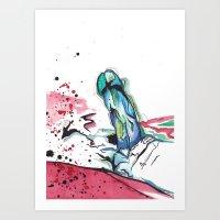 randy c Art Prints featuring Randy by M.GrondinArt