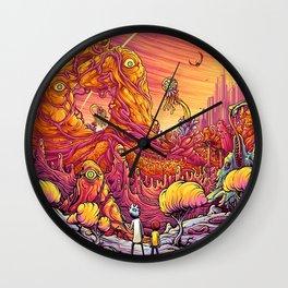 rick morty monsters world Wall Clock