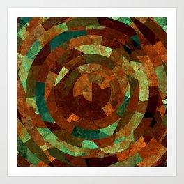 Cubist Inspired Abstract Geometric Pattern Art Print