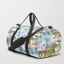 Panorama of Lindos Duffle Bag