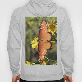 Queen Butterfly on Rubber Rabbitbrush in Claremont CA Hoody