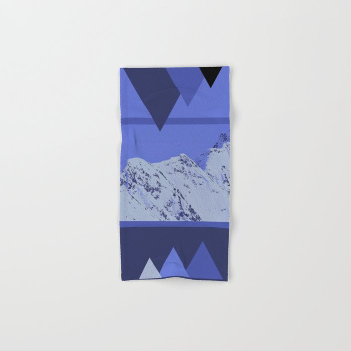 Alaskan Mountains - Periwinkle Hand & Bath Towel