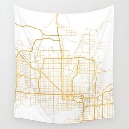 PHOENIX ARIZONA CITY STREET MAP ART Wall Tapestry