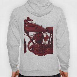 Red motorcycle lines Hoody