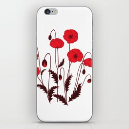 Bright floral pattern on a white background with decorative elements. iPhone Skin