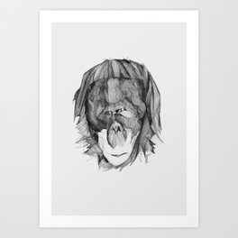 Seven Monkeys – Envy Art Print