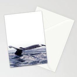 WHALE SONG 1 - DEEP DIVE Stationery Cards