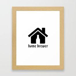 Home Brewer Framed Art Print