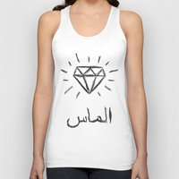 diamond Tank Tops featuring diamond by Sara Eshak
