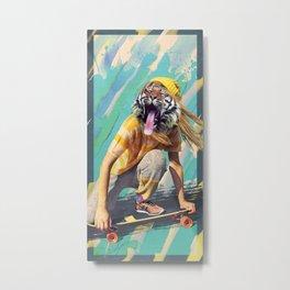 Skate Tiger Pepe Psyche Metal Print