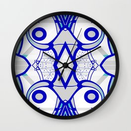 Blue morning - abstract decorative pattern Wall Clock