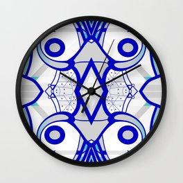 Blue morning - abstract decorative pattern Wall Clock