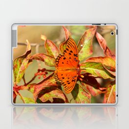 Butterfly In The Glades - Gulf Fritillary Laptop & iPad Skin
