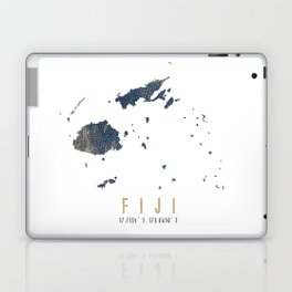 Blue and Gold Map of Fiji Laptop & iPad Skin