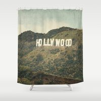 hollywood Shower Curtains featuring Hollywood (color) by CMcDonald