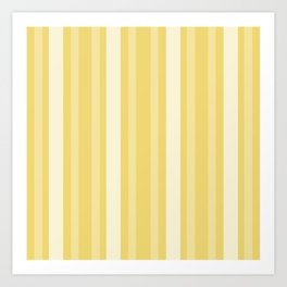 Buff Victorian Lady Stripe Art Print