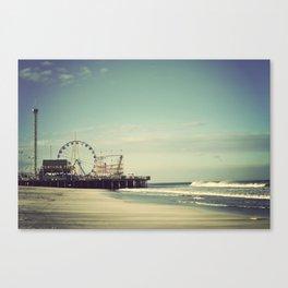 Funtown Pier Seaside Heights Vintage  Canvas Print