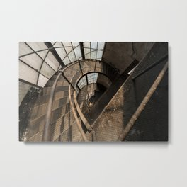 The world needs more spiral staircases. Abandoned power station. Metal Print