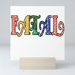 FATAL OES Tribal Print Design Mini Art Print