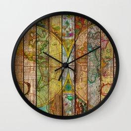 Around the World in Thirteen Maps Wall Clock