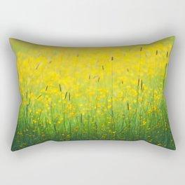 Field green yellow Rectangular Pillow
