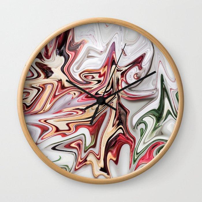Trimming Roses Wall Clock