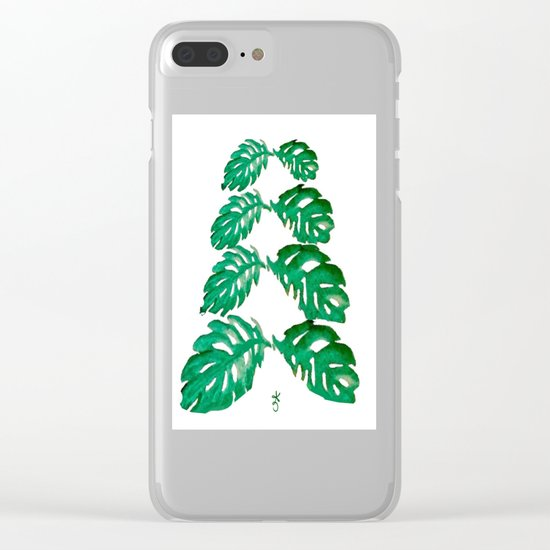 Holiday Tree Leaves perfect for a card Clear iPhone Case