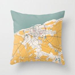 Calais - France Chalk City Map Throw Pillow