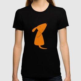 Orange dog T-shirt