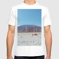 Palm Springs Windmills II White MEDIUM Mens Fitted Tee