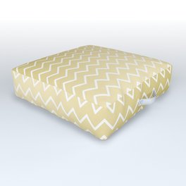 Elegant faux gold white geometrical gradient pattern Outdoor Floor Cushion
