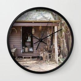 Old Timers Hut Wall Clock