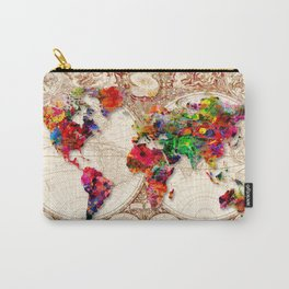 Antique and POP Art Map Carry-All Pouch