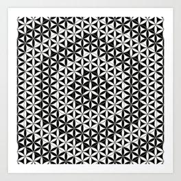 Flower of Life Black White 5 Art Print
