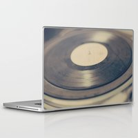 vinyl Laptop & iPad Skins featuring Vinyl  by Caroline Mint
