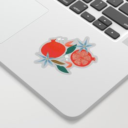 Summer Pomegranate #illustration #pattern Sticker