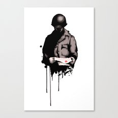 War Letter Canvas Print
