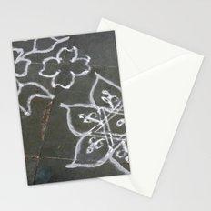 Kolam - white on gray Stationery Cards