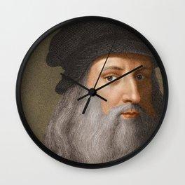 Leonardo Da Vinci Wall Clock