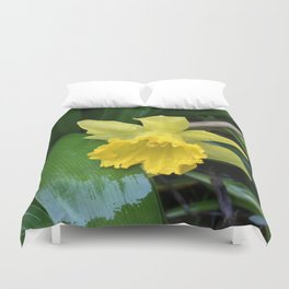 Second daffodil of spring Duvet Cover