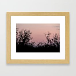 i'm up in the woods, down on my mind Framed Art Print