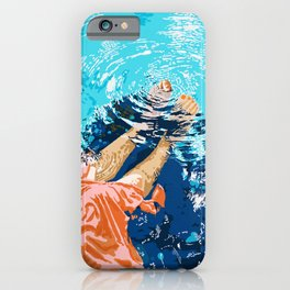 Take Me Where The Waves Kiss My Feet #painting iPhone Case