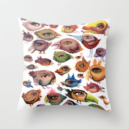 Bird's Eye Throw Pillow