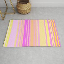 Vertical Stripy Summer Sorbet Rug