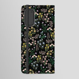 Spring Bloom Black Android Wallet Case
