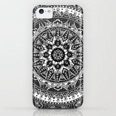 Black and White Mandala Pattern Slim Case iPhone 5c