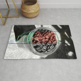 Coffee Beans in Manson Jar Rug