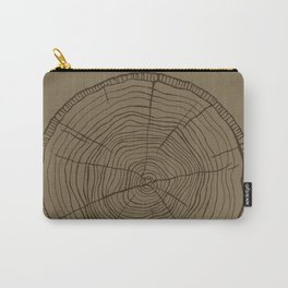 Tree rings brown Carry-All Pouch