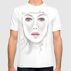 Porcelain Beauty White MEDIUM Mens Fitted Tee